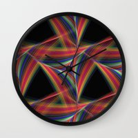 triangles Wall Clocks featuring Triangles by David Zydd