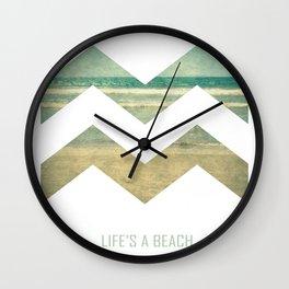 Life's A Beach Wall Clock