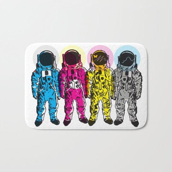 CMYK Spacemen Bath Mat