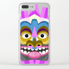 Tropical Tiki Mask Clear iPhone Case