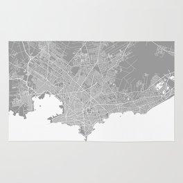Mackay map grey australia Rug