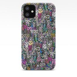 Gemstone Cats CYMK iPhone Case