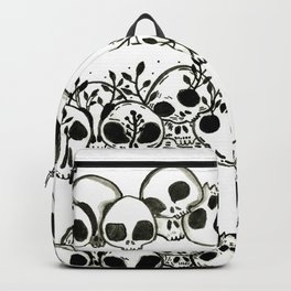 several piles of skulls Backpack