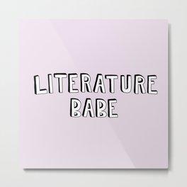 Literature Babe Metal Print