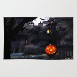 Happy Screaming Halloween Rug