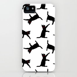 Cats-Black on White iPhone Case