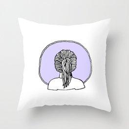girl 1 Throw Pillow