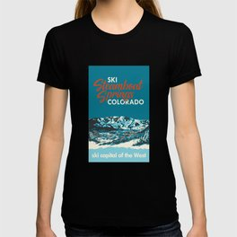 Steamboat Springs Vintage Ski Poster T-shirt