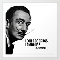 salvador dali Art Prints featuring Salvador Dali by Pancho the Macho