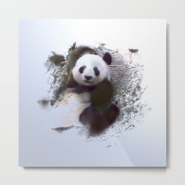 Animals and Art - Panda Metal Print