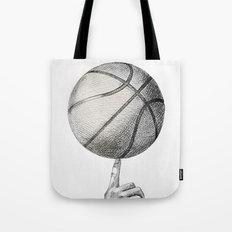 Basketball spin Tote Bag