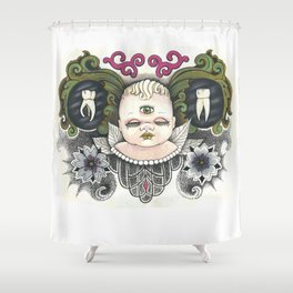 All Knower Shower Curtain