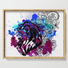 Purple Lion Spirit Serving Tray