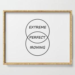 Extreme Ironing Serving Tray