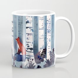 The Birches (in Blue) Coffee Mug