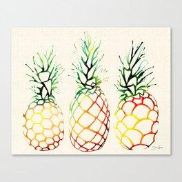 Burlap Pineapples Canvas Print
