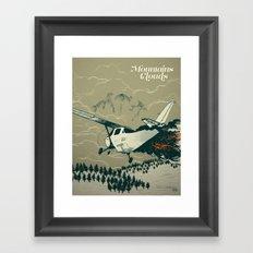 Mountains Hide in Clouds II - Tan Framed Art Print