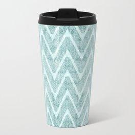 Palest Sea Green Zigzag Imitation Terrycloth Travel Mug
