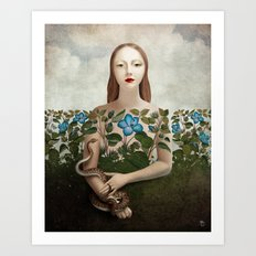 Eva and the Garden  Art Print