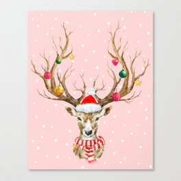 Christmas Deer 3 Canvas Print