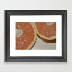 Grapefruit Framed Art Print