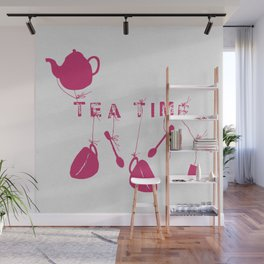 Pink Tea Time 2 Wall Mural