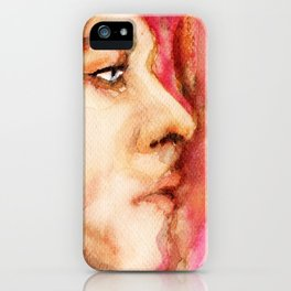 The Man Who Sold the World, Bowie portrait by Ines Zgonc iPhone Case