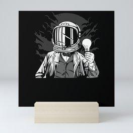 Astronaut Scientist T-Shirt Design Mini Art Print