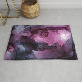 Abstract Ink Painting Ethereal Flowing Watercolor Nebula Rug