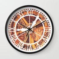 clockwork Wall Clocks featuring CLOCKWORK by Stephanie Lue