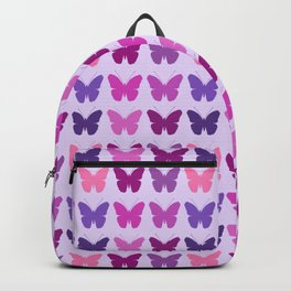 Butterly Silhouettes 3x3 Pinks Purples Mauves Backpack