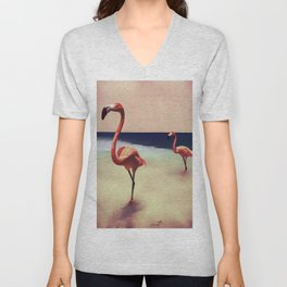 Flamingo beach Unisex V-Neck