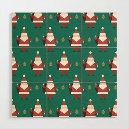 Origami Santa (Patterns Please) Wood Wall Art