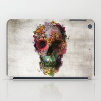 grey iPad Cases featuring SKULL 2 by Ali GULEC
