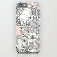 Seamless pattern design with hand drawn flowers and floral elements iPhone 6s Slim Case