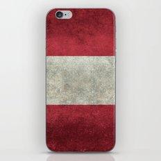 Austrian National Flag - Vintage Version iPhone & iPod Skin