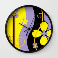 blossom Wall Clocks featuring Blossom by Graphic Tabby