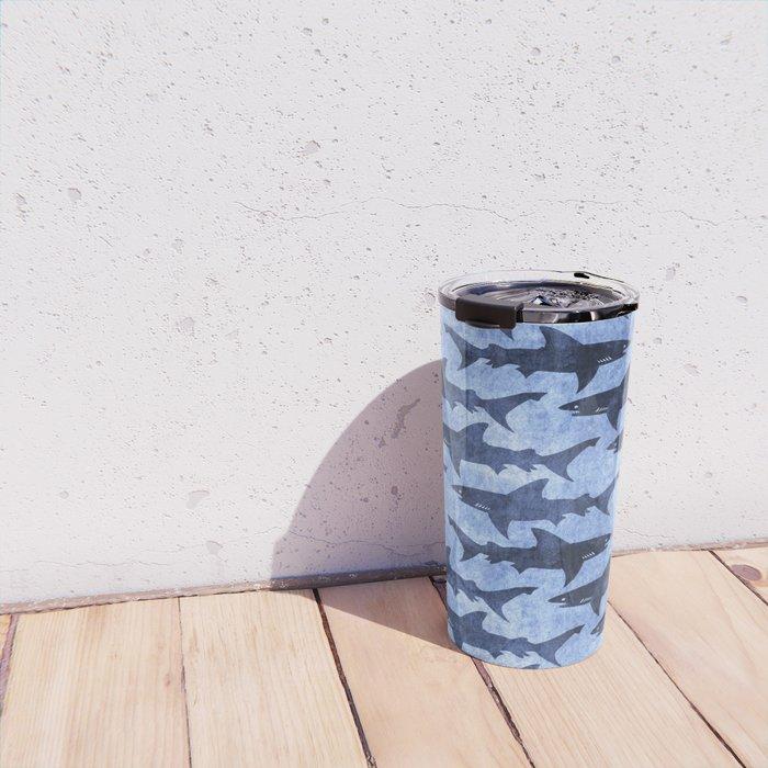 Blue Ocean Shark Travel Mug