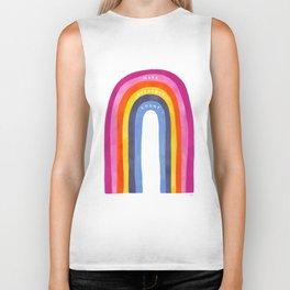 Abstract Rainbow Biker Tank