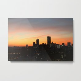 Boston Seaport Sunset Metal Print