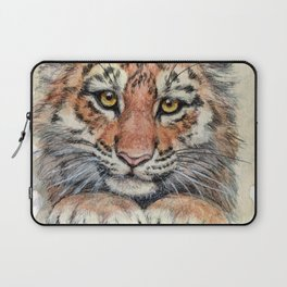 Cute Tiger Cub 903 Laptop Sleeve