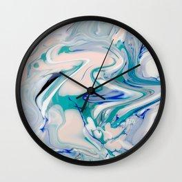 Marble watercolor pastel Wall Clock
