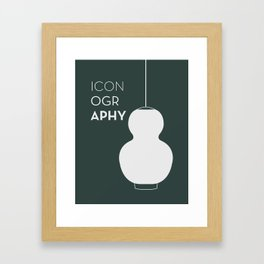 ICONOGRAPHY - Pine Framed Art Print