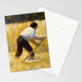 The Mower (ca. 1881–1882) by Georges Seurat. Stationery Cards