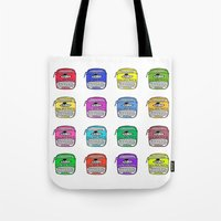 write Tote Bags featuring Write on by andy_panda_