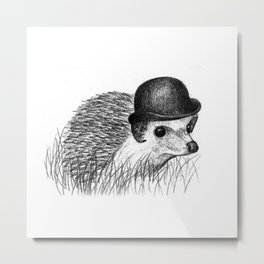 Hedgehog in a Bowler Hat Metal Print