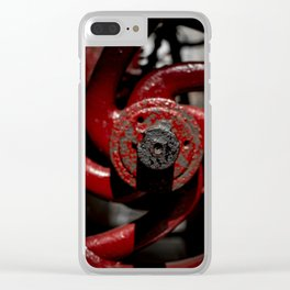 Red Valve Clear iPhone Case