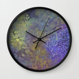Abstract Watercolor #3 Wall Clock