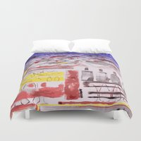 bread Duvet Covers featuring Daily Bread by Andooga Design