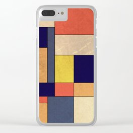 Abstract #350 Clear iPhone Case